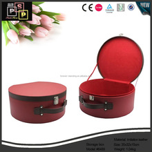 Hand made paper board cosmetic jewelry kits case box with zipper