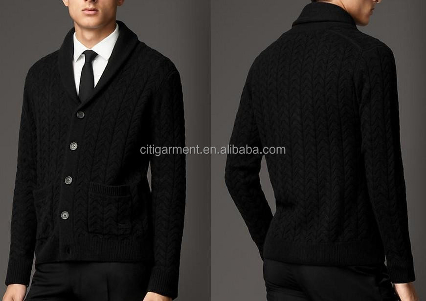 Mens Wool Cashmere Cardigan