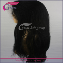 Fashion curly unprocessed remy virgin human hair wig