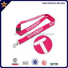Customized single side Normal silk printed lanyard