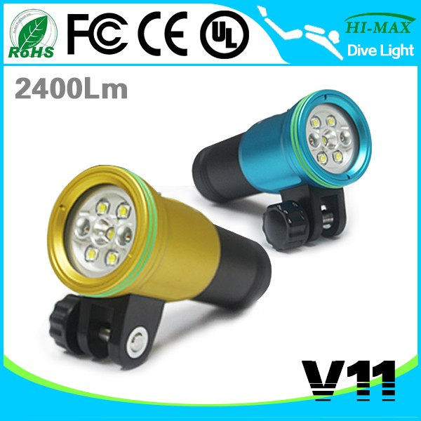Rechargeable High Brightness LED Video Spot Light <strong>Torch</strong> <strong>Diving</strong> V11