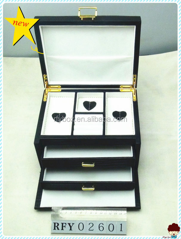 fashion jewelry wooden box with drawers
