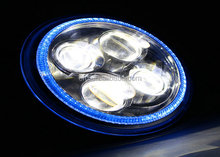 ECE 7 Inch Round Led Headlight 12V 24V With Blue DRL for Motorcycle,Jeep Wrangler, And other Off Road Vehicles.