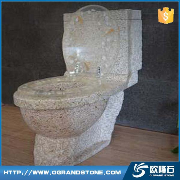 Natural stone closestool Dark Green marble Flush toliet