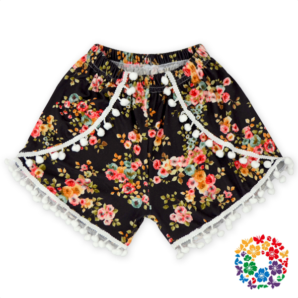 Big Sale Girls Summer Pom Pom Shorts Newborn Baby Clothes