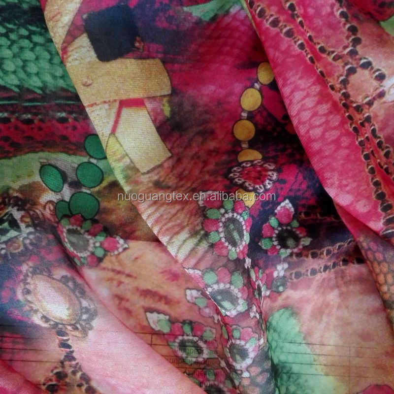 Super soft printed handkerchief poly/ cotton fabric