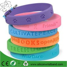 Custom factory cheap silicone footprints bracelet,rubber footprints bracelet bangle