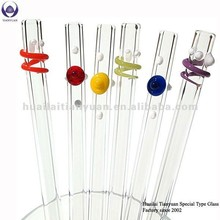 Eco-friendly reusable colored glass drinking straw acrylic drinking straw