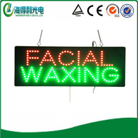 Hot selling HD beauty shop sign Hidly led facial waxing sign
