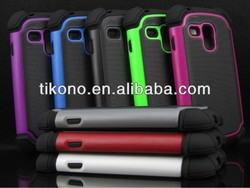 new durable good 3 in 1 plastic case for samsung i9300 mini