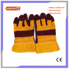 SHINEHOO Cheap Short Welding Safety Gloves Export Of Working Gloves