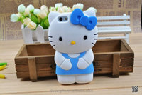 2015 hot sale silicone 3d hello kitty phone case for iphone