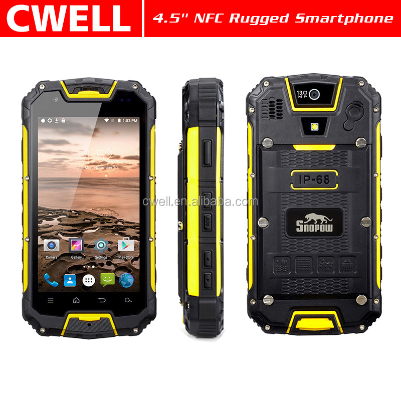 Rugged Phone Snopow M5P 4.5 Inch 2GB RAM 16GB ROM IP68 Waterproof Floating Tough Military Mobile Phone