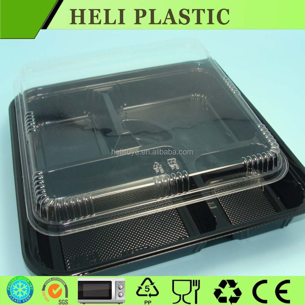 Disposable 5-compartment food container microwave BOX