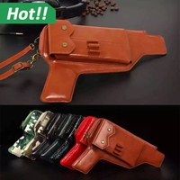 Gun stylish protective leather wallet mobile phone case