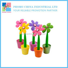 New Lovely Creative Silicone Sunflower Potted Pen Promotional Gifts For Children