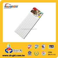 Promotional gifts fridge magnetic note pad magnet