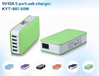 KC charger 5V 10A mobile phone accessories usb charger, 5 in 1 usb multi charger for samsung, iphone 6 case, mp3