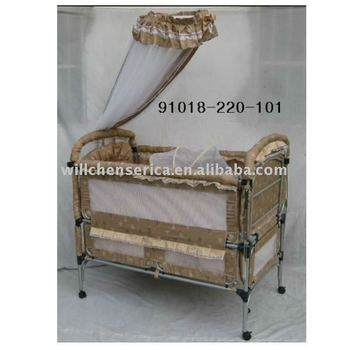 soft lovely pale brown baby playpen