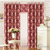 China suplier fancy flower pattern window curtains & drapes