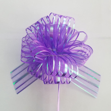 Wholesale high quality organza Pom Pom Pull Bow for gift package or christmas material or home decoration