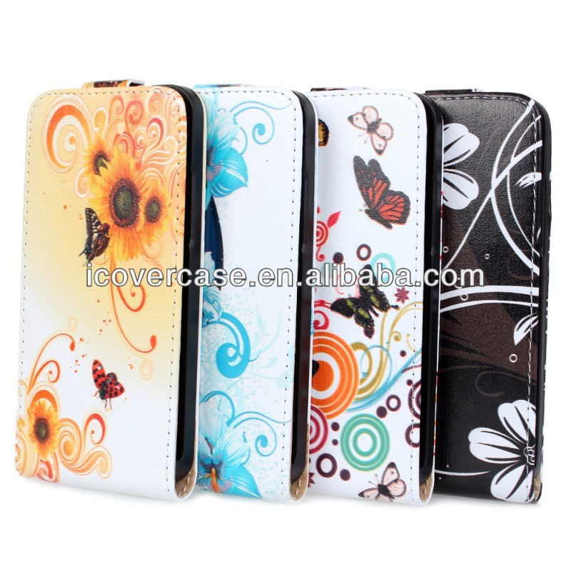 New Various Multi Pattern Flower Leather Wallet Stand Flip Pouch Case Cover For Huawei Ascend P6