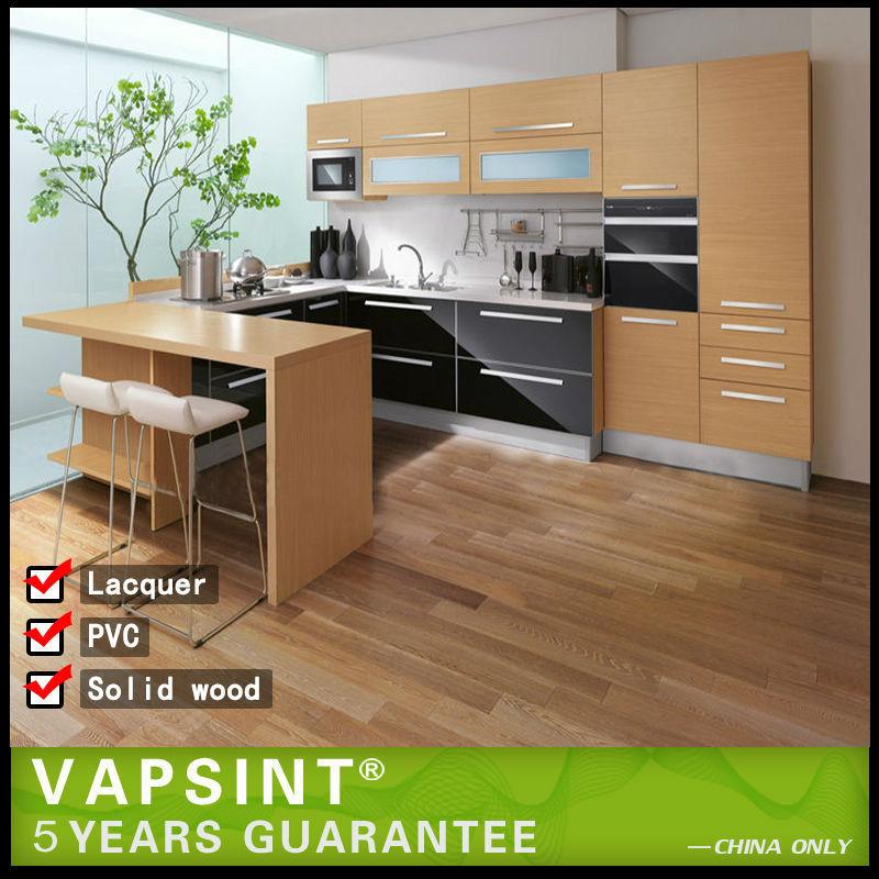 Kitchen Cabinet Veneer: Wood Veneer Modern Design Kitchen Cabinet Set