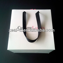 Smart shopping paper bags with PP string, elegant designs for promation, gift, holiday,clothing