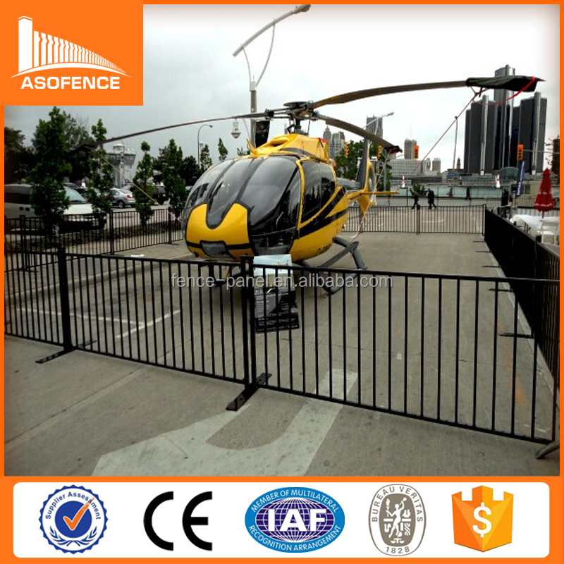 control panel/portable hravy duty crowd control barrier fence for rental/antirust temporary fence panel