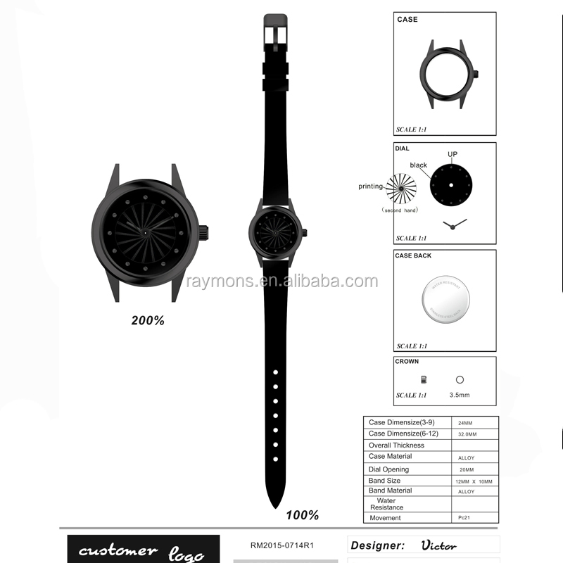 Stainless Steel Design R make own logo custom brand watch Colors Watches personalized digital watch second hand