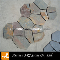 china slate tile/flagstone mat mesh stone tile