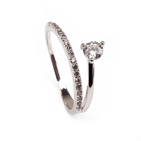 High Quality Jewelry Unqiue Style One Colour Silver Simple Ring For Women