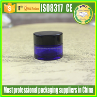 5ml glass cosmetic cobalt blue jars