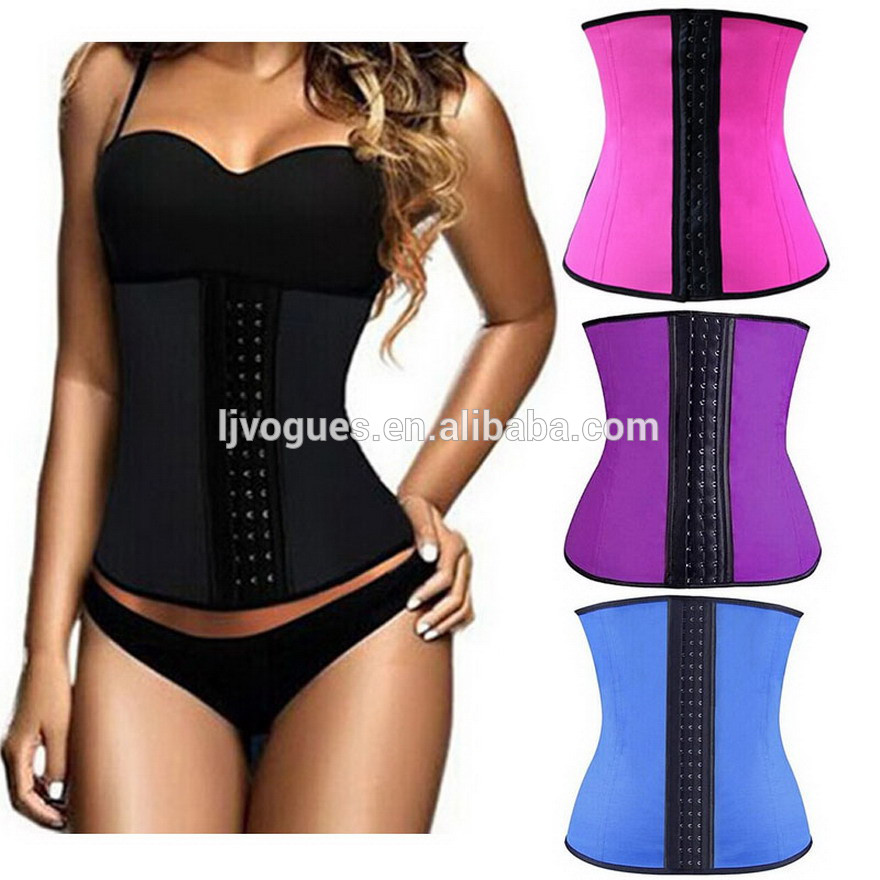 Latex waist cinchers,Wasit trainer,Slimming waist cinchers with 100% nutrual latex material and 9 pcs memory alloy steel boned