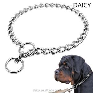 DAICY cheap wholesale stainless steel silver twisted shar pei dog collar choke chain