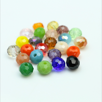 newest coating rondelle glass bead for jewelry making,yiwu crystal beads factory