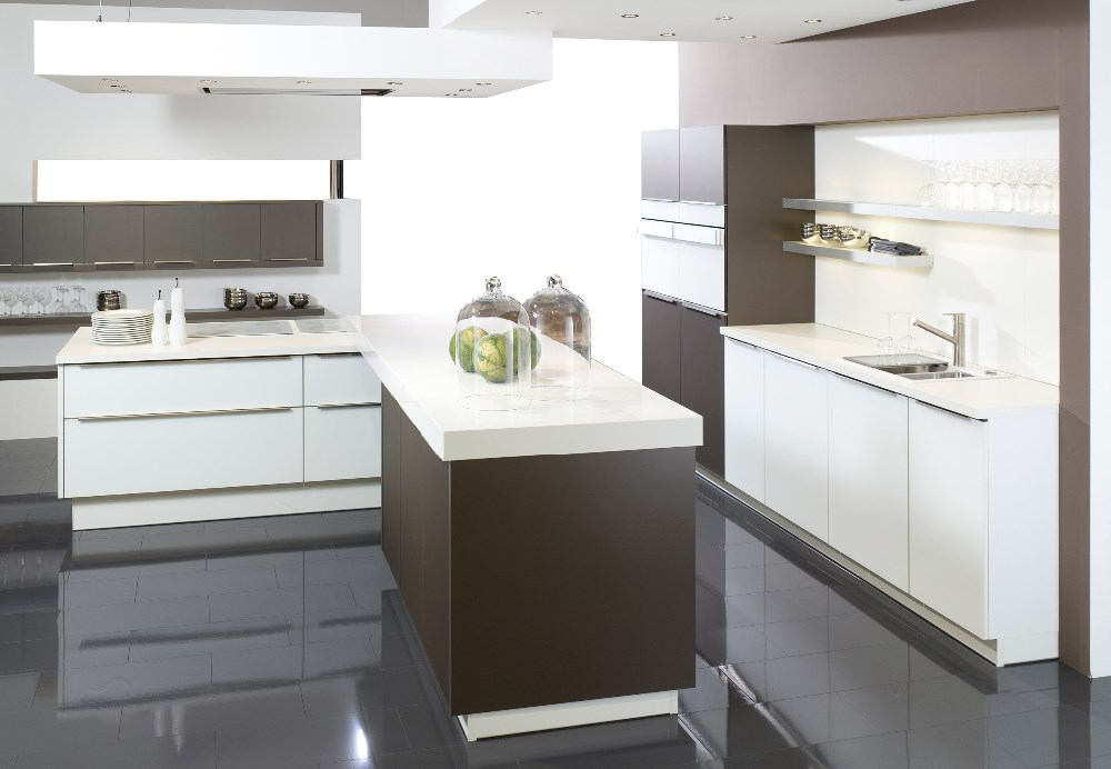 Oulin Top quality I shaped modular kitchen designs with price