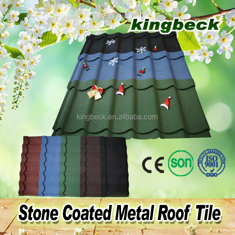 asian style roof tiles/black metal roofing