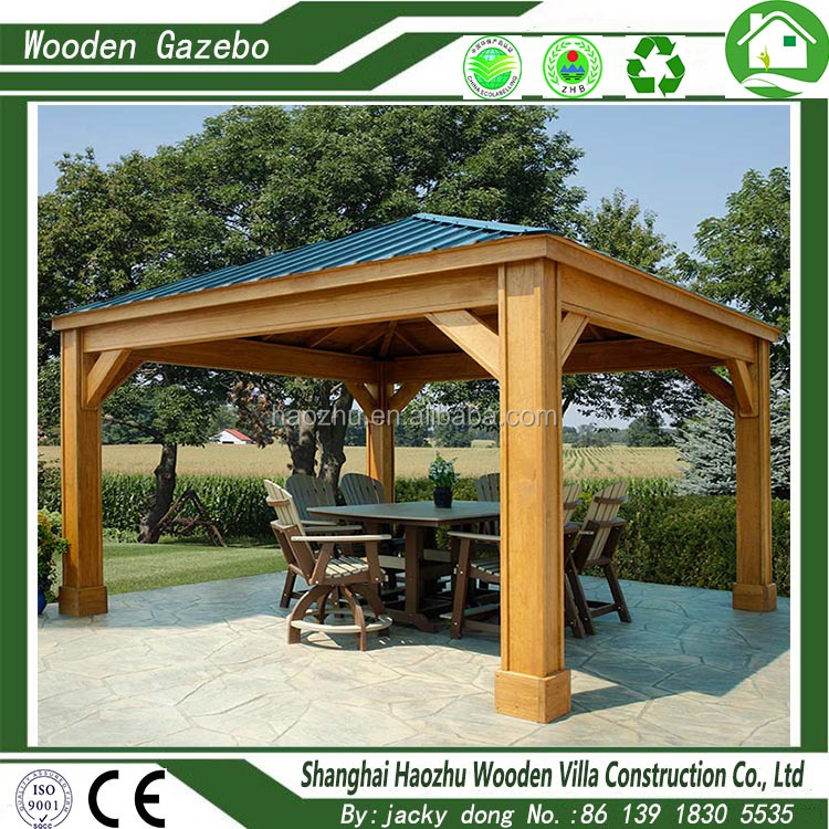 hot sale strong outdoor luxury wooden spa gazebo