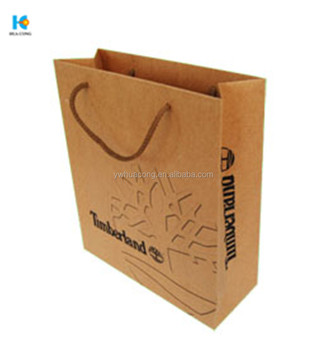 washable paper bag gift craft brown shopping packaging kraft paper bag supplier with handle
