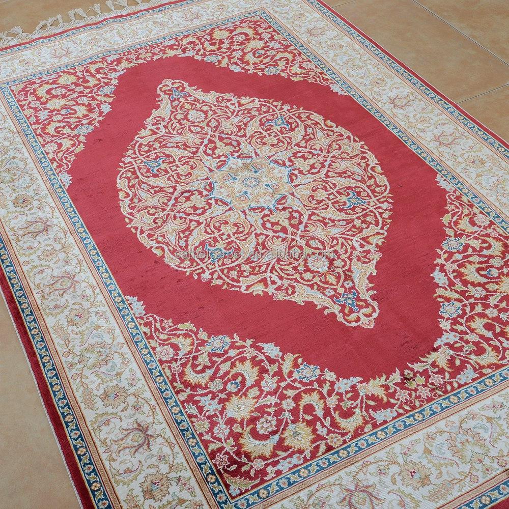 Alfombra Hecha A Mano 4x6ft Rojo Oriental Tradicional