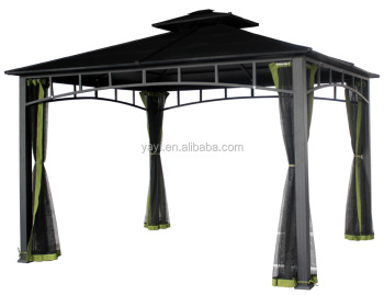 Pavilion garden gazebo with 4 curtains