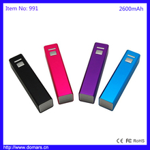 2016 Hotest Selling 2600mAh Smart Slim Aluminum Purfume Power Bank Charger 2600mAh Pink Black