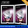 Edgelight AF2A advertising display board Aluminum frame magic mirror sensor led light box A0 size for China manufacturer