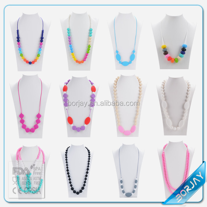 Mixed Food Grade Silicone Loose Beads For Mom Nursing Necklace Jewelry