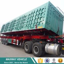Export high quality new type 60tons rear dump semi trailer