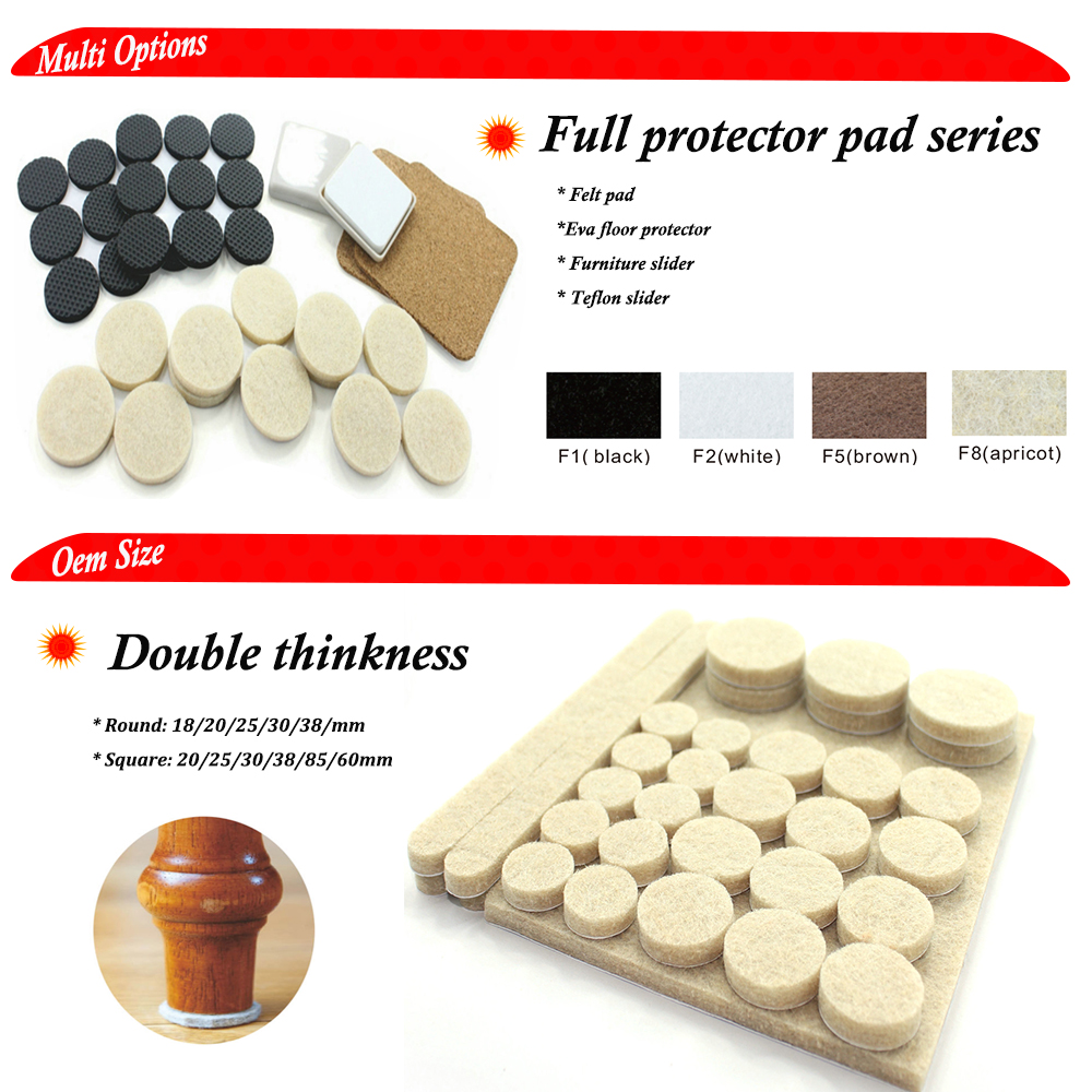 Self-Stick Round Felt Pads furniture leg protector felt furniture pads