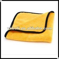 Microfiber Terry Face Towel Gold Black Edge A003