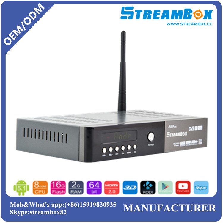Stream CA Card EMM Auto-update WiFi DVB-T2+S2-C PowerVU CCcam Biss Key Combo Android TV Box Digital Satellite Receiver