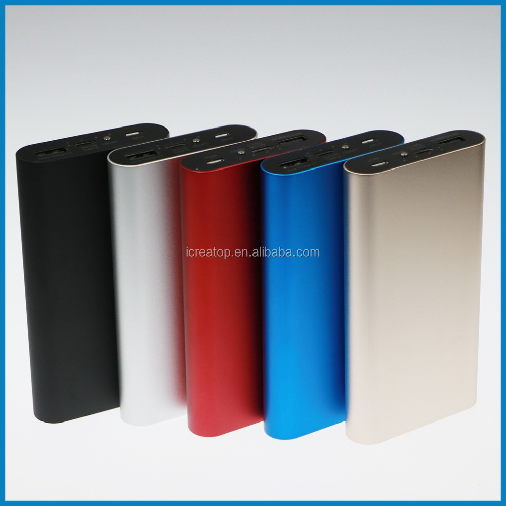 Super 100% metal fast charging universal smart mobile power bank 10000 mAh USB port Portable power source mobile phone charger